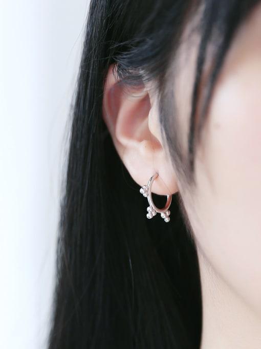 Peng Yuan Simple Tiny Beads Stack Stud hoop earring 2