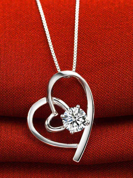 One Silver Fashion Style Heart Shaped Pendant 1