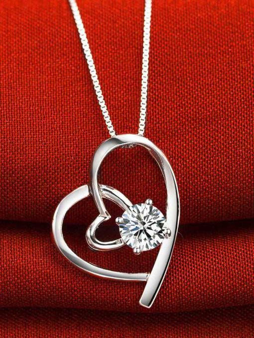 White Fashion Style Heart Shaped Pendant