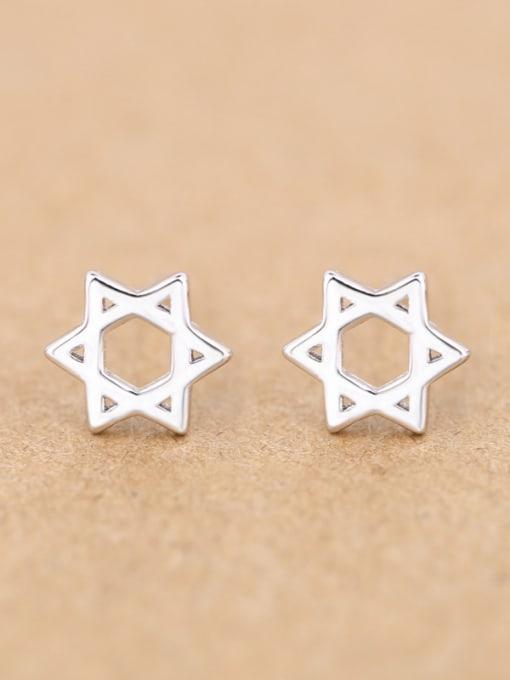 Peng Yuan Hollow Six-pointed Star stud Earring