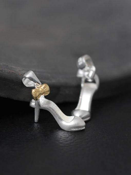 SILVER MI Women's Hgh-heeled Shoes Necklace
