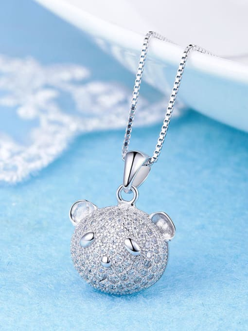 One Silver Lovely 925 Silver Bear Pendant
