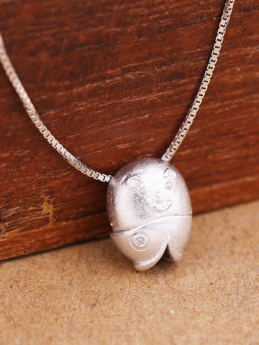 Peng Yuan Simple Personalized Fish Silver Necklace 3