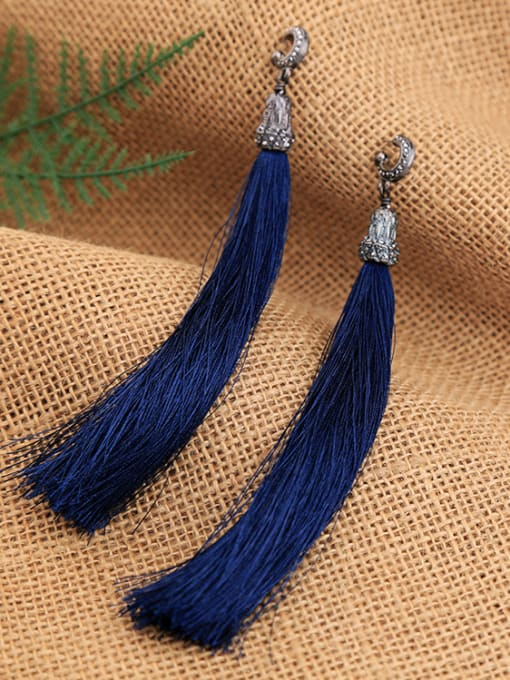 KM Retro Temperament Tassel Drop Chandelier earring 1
