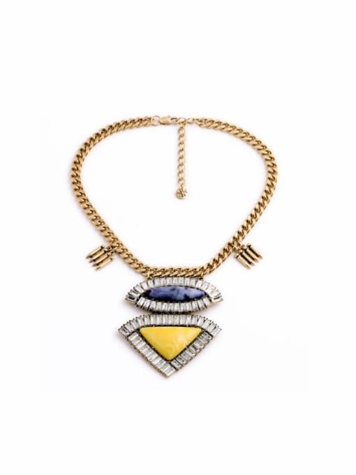 KM Geometric Pendant Alloy Women Necklace