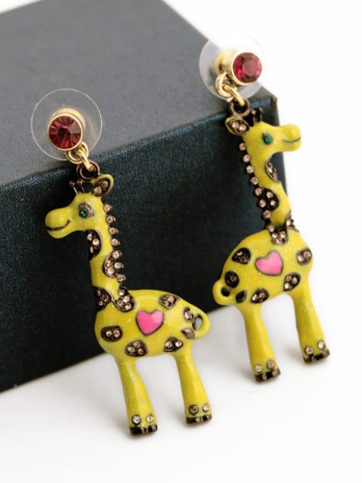 KM Fashion Lovely Giraffe Stud drop earring 1