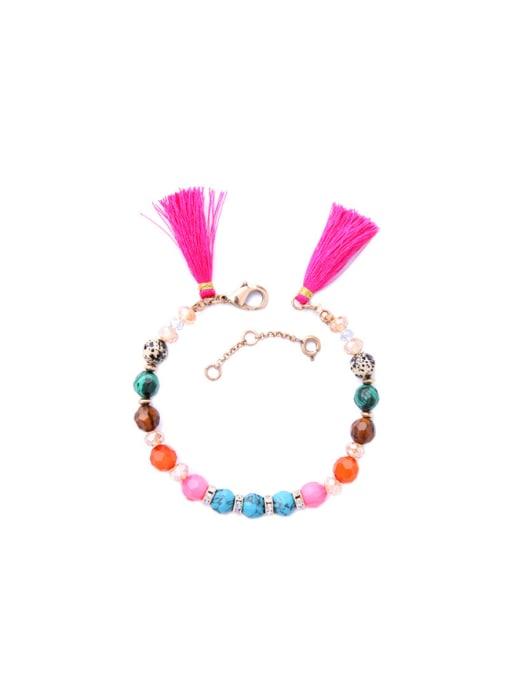 KM Colorful Tassel Women Alloy Bracelet