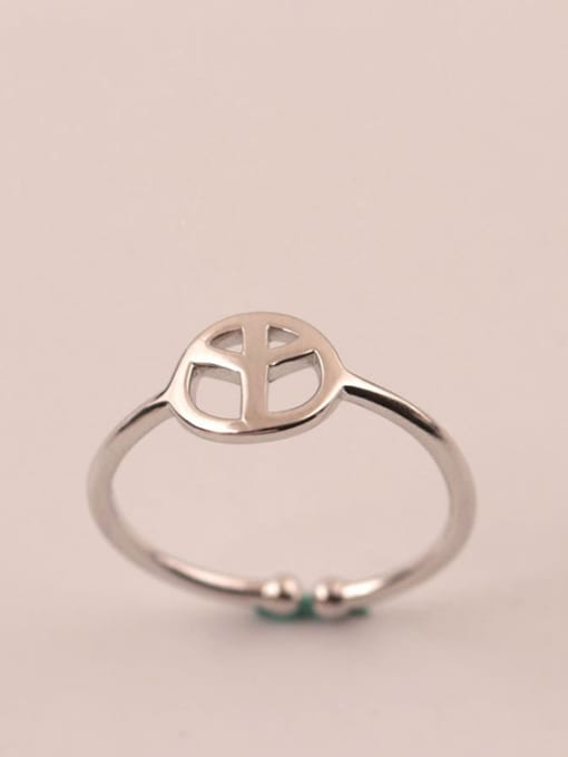 SILVER MI S925 Silver Plated Women Opening Ring 0