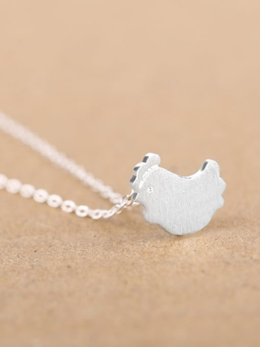 Peng Yuan Simple Little Chick Silver Necklace 2