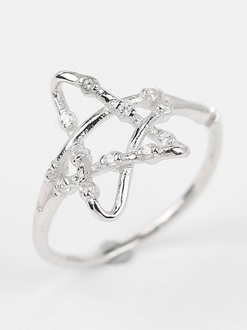 Peng Yuan Fashion Hollow Stars Zircon Ring 1