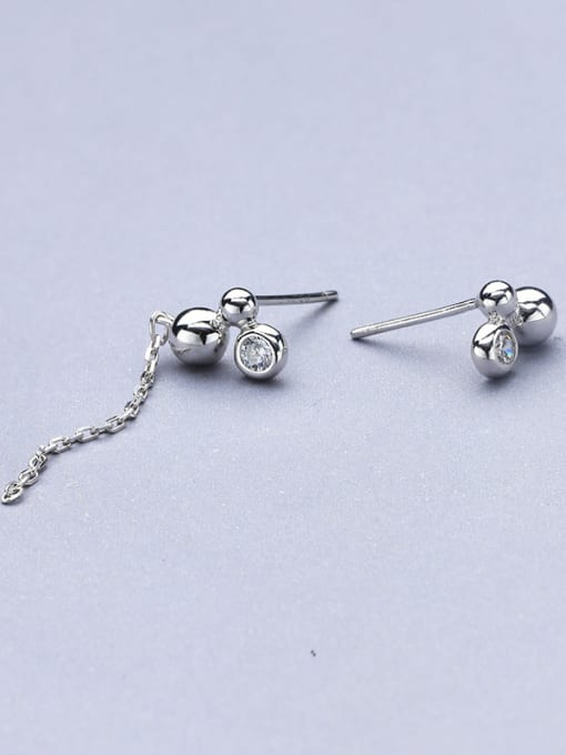 One Silver Exquisite Ball Shaped stud Earring 2