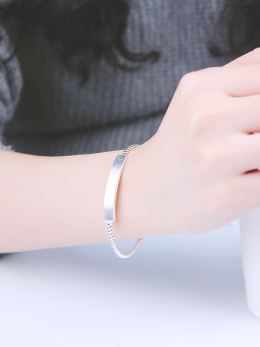 Peng Yuan Simple Twisted Silver Opening Bangle 1
