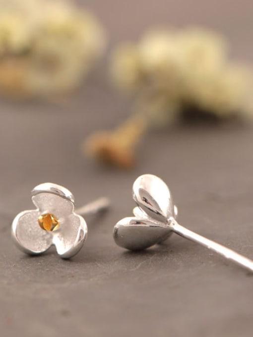 SILVER MI Orchid S925 Silver stud Earring 2