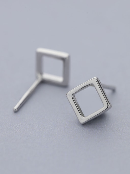 White Natural Style Square Shaped stud Earring