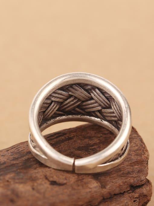 Peng Yuan Punk Woven Silver Handmade Ring 4