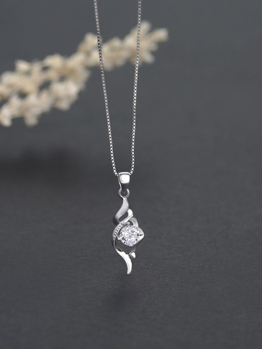 One Silver 925 Silver Flower Shaped Pendant 1