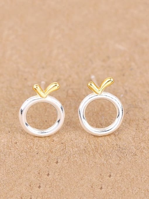 Peng Yuan Simple Tiny Round stud Earring 0