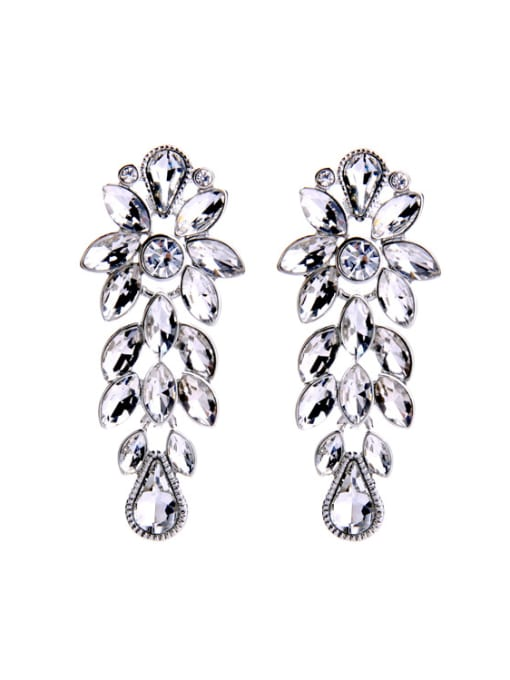 KM Shining Wedding Accessories Stud Cluster earring 0