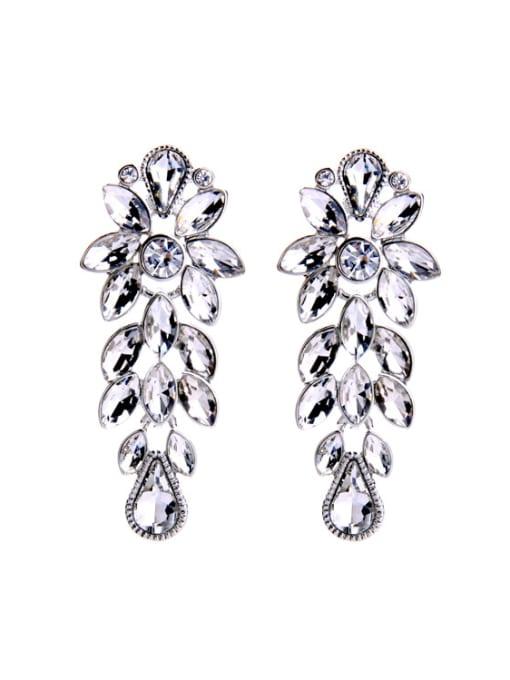 KM Shining Wedding Accessories Stud Cluster earring
