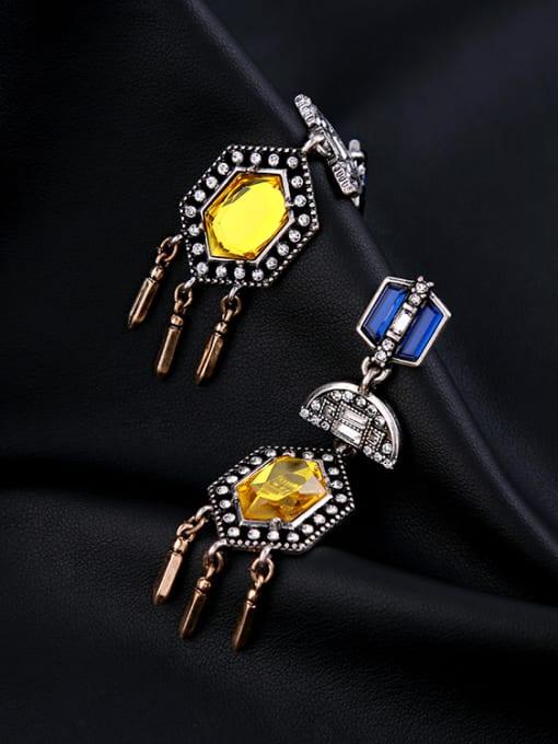 KM Noble Colorful Stones Women Drop Chandelier earring 2