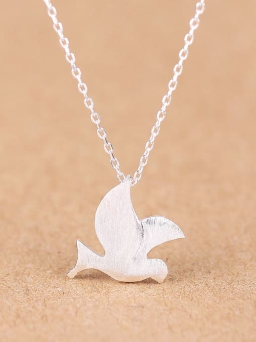 Peng Yuan Simple Peace Dove Silver Necklace