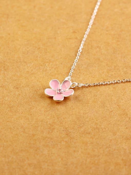 Peng Yuan Fashion Little Pink Flower Necklace 2