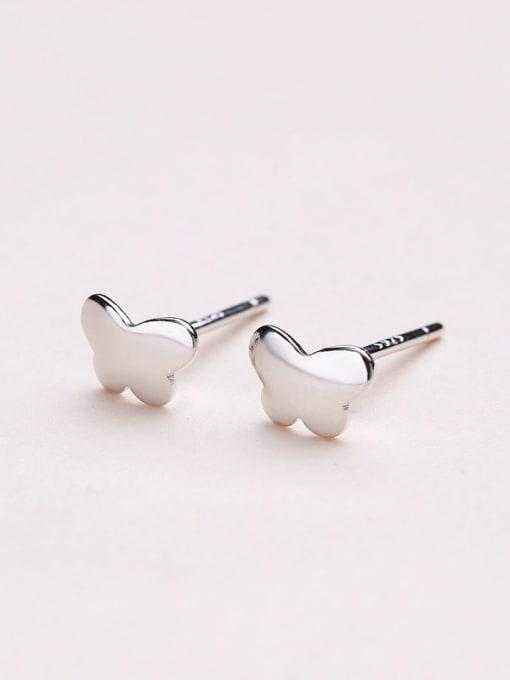 One Silver 925 Silver Butterfly Shaped stud Earring 3
