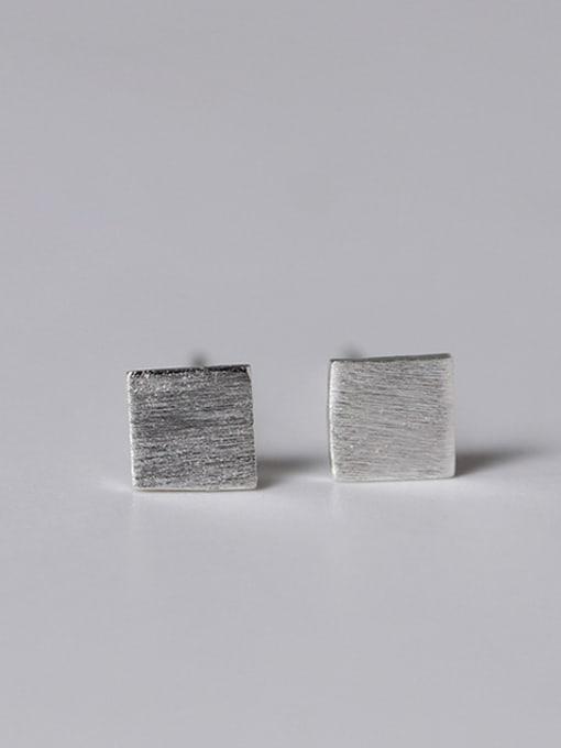 SILVER MI Lovely Geometric Small Stud Earrings 4