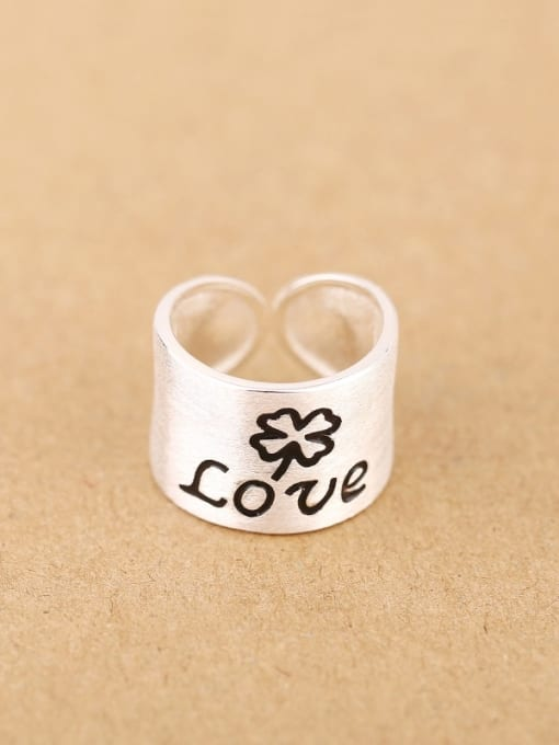 Peng Yuan Personalized LOVE Silver Opening Ring 0