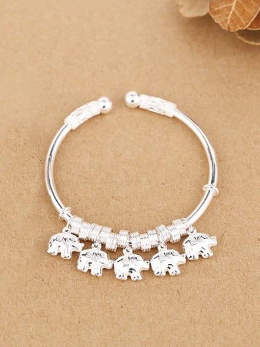 Peng Yuan 2018 Personalized Little Elephants Opening Bangle 0