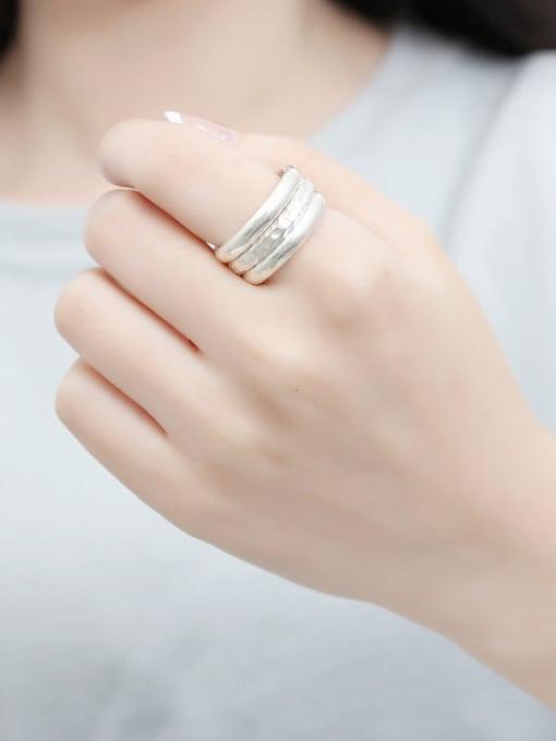Peng Yuan Simple Sterling Silver Handmade Ring 1