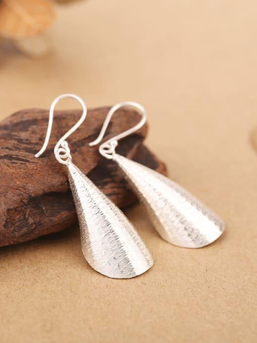 Peng Yuan Simple Handmade Sterling Silver hook earring 2