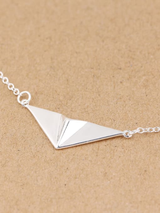 Peng Yuan Personalized Paper Plane Silver Necklace 1