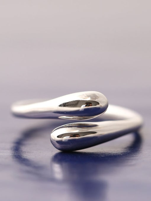 SILVER MI Simple Style Fashionable Opening Ring 0