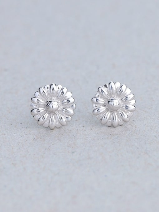 One Silver 925 Silver Chrysanthemum Shaped cuff earring 0