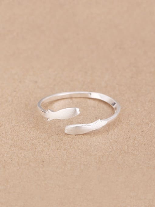 Peng Yuan Simple Little Fish Opening Midi Ring 0