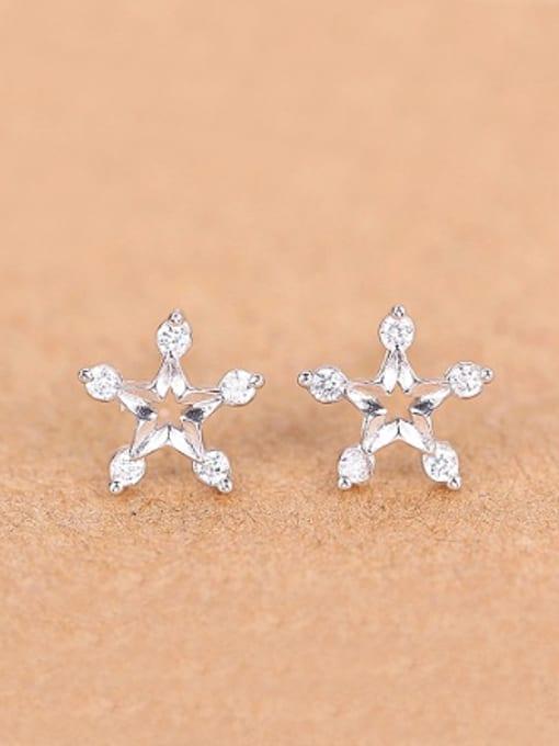 Peng Yuan Fashion Star Rhinestones Stud cuff earring 0