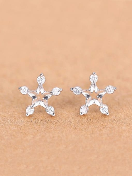 Peng Yuan Fashion Star Rhinestones Stud cuff earring