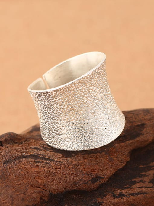 Peng Yuan Simple Thick Silver Opening Ring 1