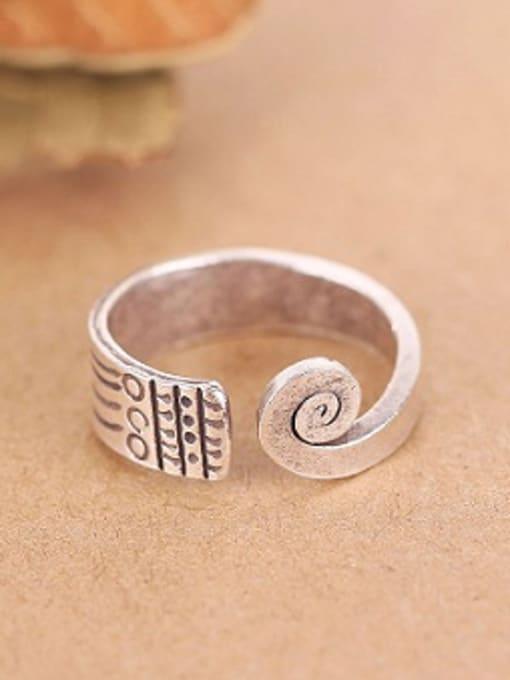 Peng Yuan Thai Ethnic style Handmade Silver Ring 0