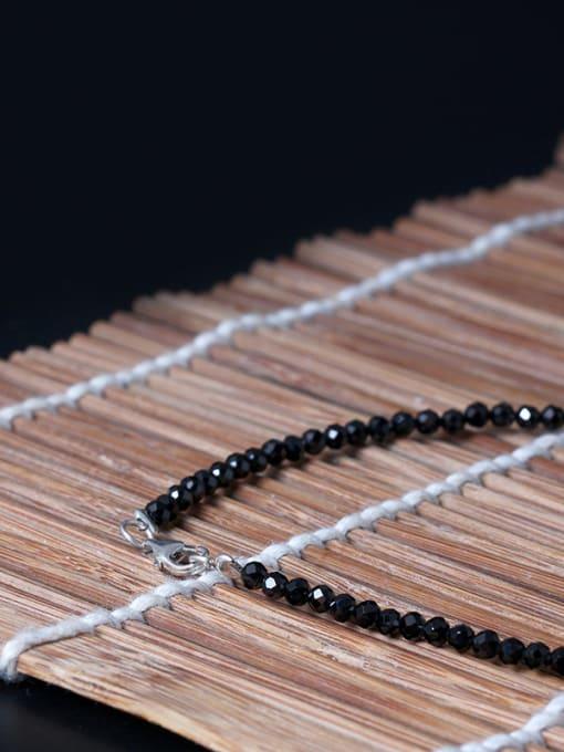 SILVER MI Safety Lock Jade Sweater Necklace 2