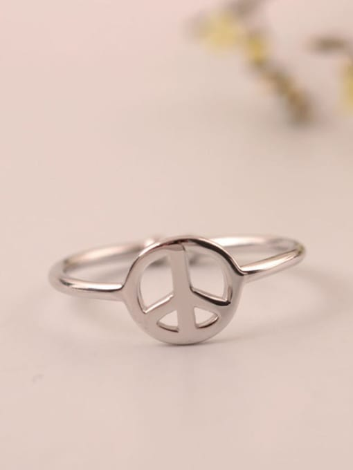 SILVER MI S925 Silver Plated Women Opening Ring 1