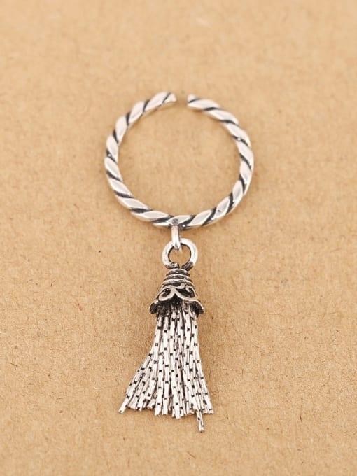 Peng Yuan Fashion Tassels Silver Opening Ring 0