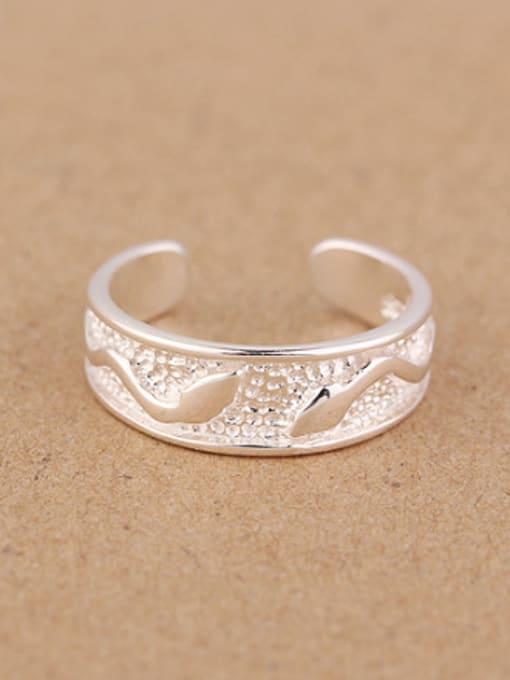 Peng Yuan Tiny Snakes Silver Opening Ring 0