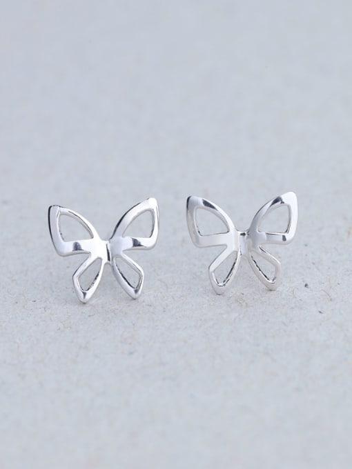 One Silver Women Popular Butterfly Shaped stud Earring 0