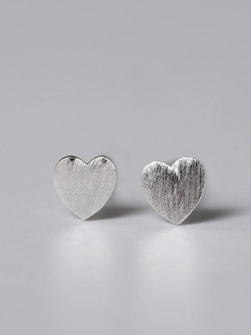 SILVER MI Lovely Geometric Small Stud Earrings