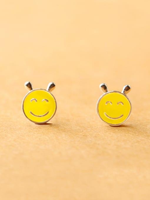 Peng Yuan Yellow Smiling Face stud Earring 0