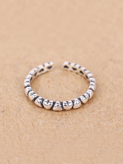Peng Yuan Retro Tiny Heart shapes Opening Midi Ring 0