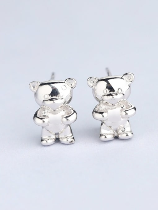 One Silver Cute Bear Shaped Stud cuff earring 2