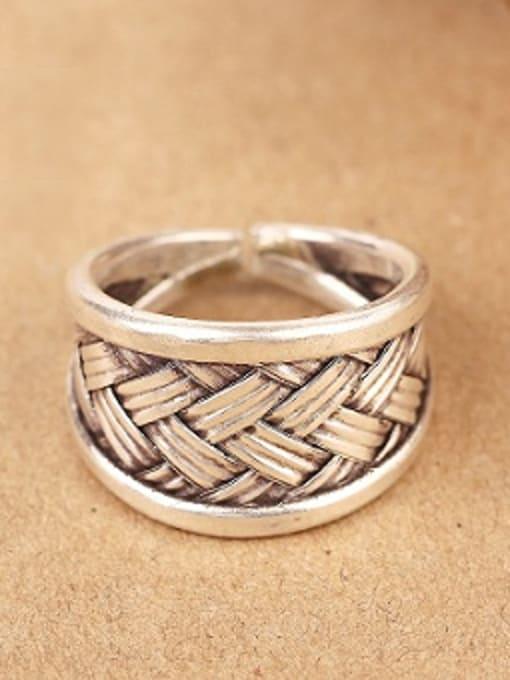 Peng Yuan Punk Woven Silver Handmade Ring 0
